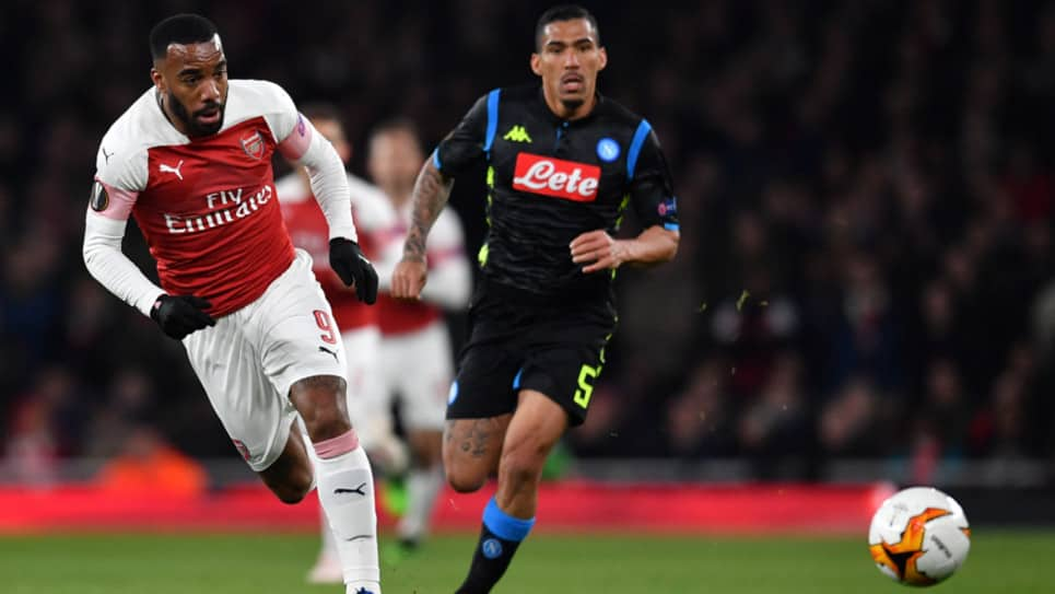 Napoli vs Arsenal EN VIVO ONLINE: Europa League 2018-2019
