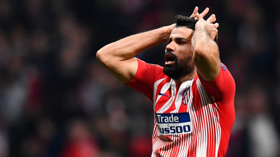 VIDEO | La terrible entrada a Diego Costa en partido amistoso con el Atlético de Madrid