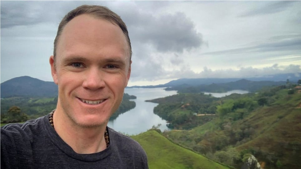 VIDEO | Chris Froome visita el paisaje de Guatapé, Antioquia