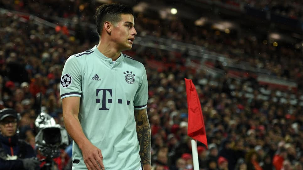 50 partidos de James en Champions League