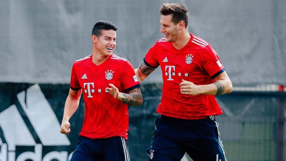 VIDEO: James marca golazo en el entrenamiento del Bayern