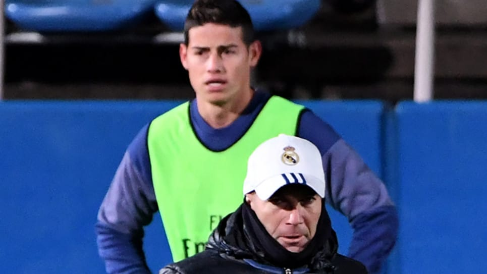 ABC: Zidane descarta a James Rodríguez para el Real Madrid 2019/2020