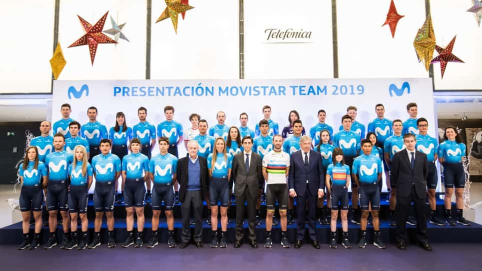 El Movistar Team 2019 se presenta oficialmente en Madrid