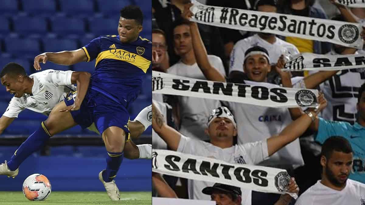 Santos vs Boca Juniors 2021 / AFP