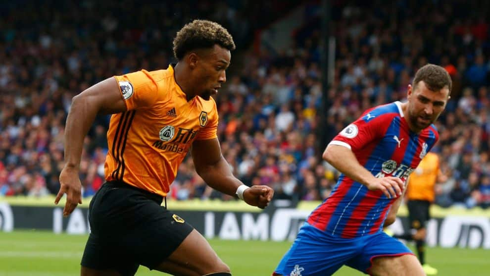 Adama Traoré. Wolves vs. Crystal Palace / AFP