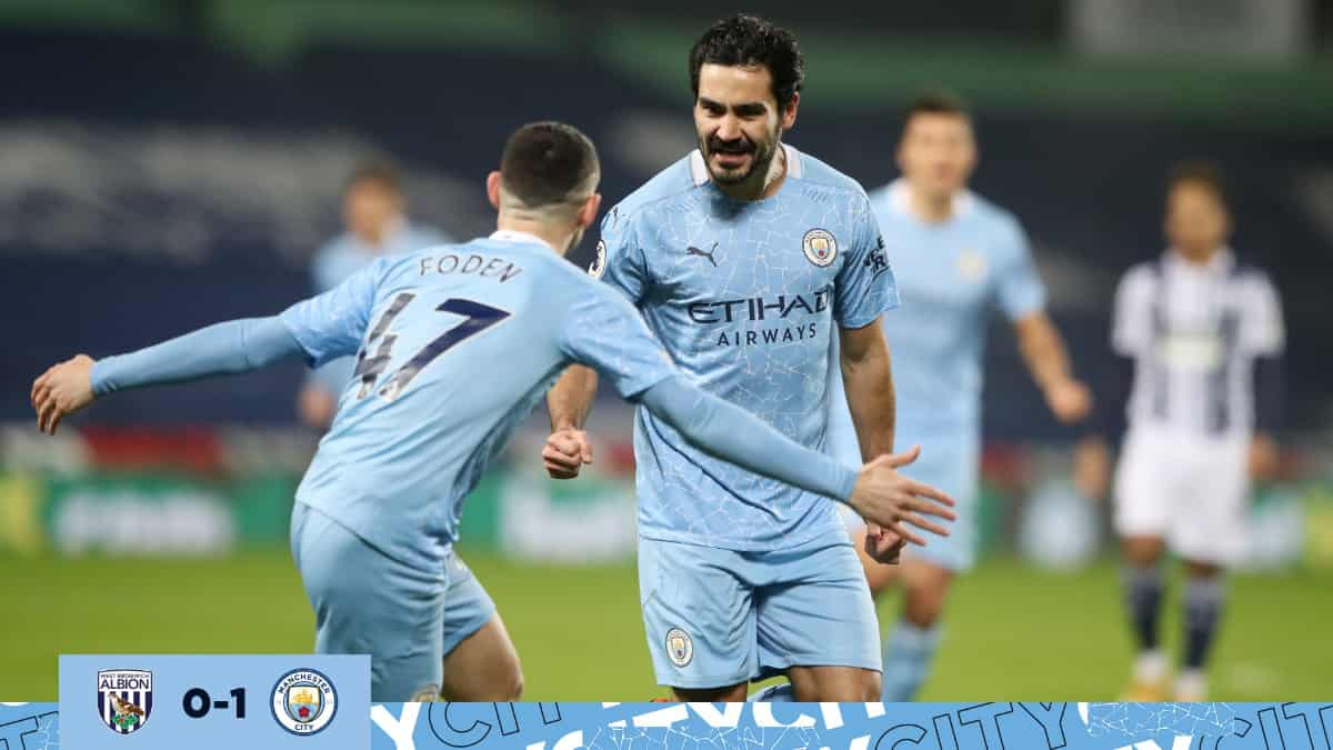 Manchester City vs West Bromwich: goles, resumen y crónica