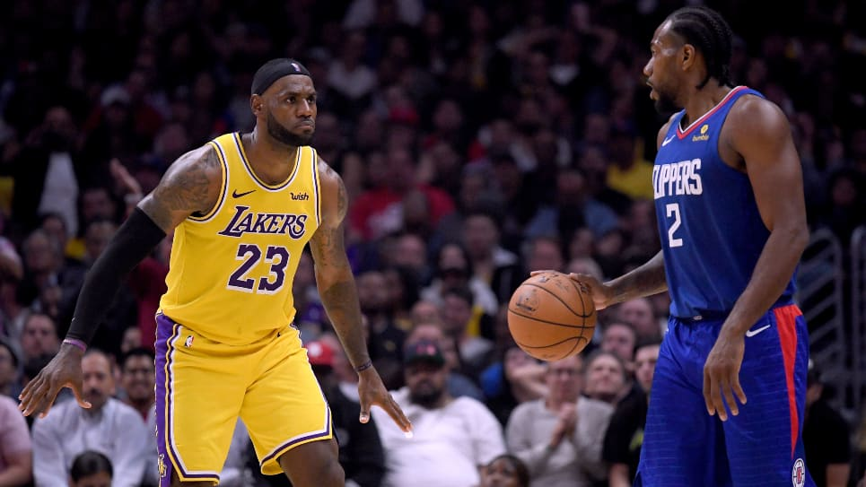 Clippers vs Lakers: Kawhi Leonard se impone a LeBron James