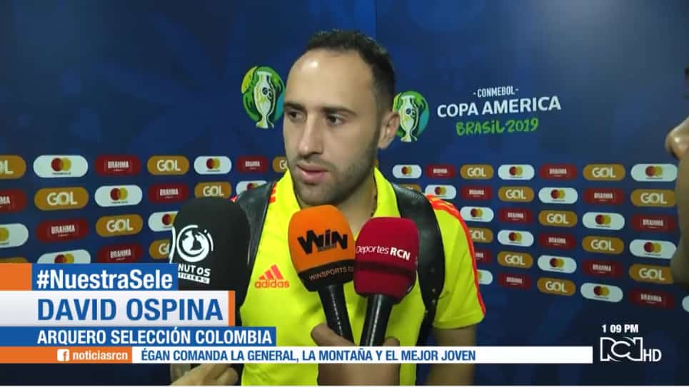 VIDEO | David Ospina completa 272 minutos sin recibir gol con Colombia en la Copa América