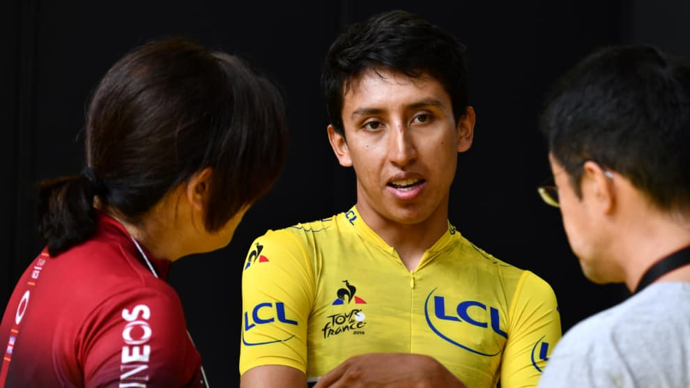 Egan Bernal Team Ineos. AFP