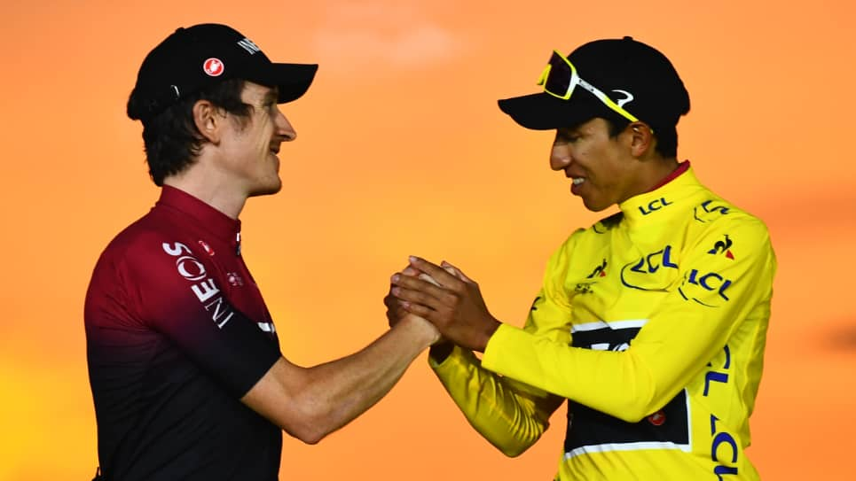 Egan Bernal y Gerain Thomas. AFP