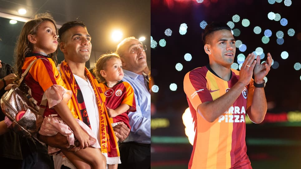 Falcao Galatasaray: video llegada y presentación Galatasaray