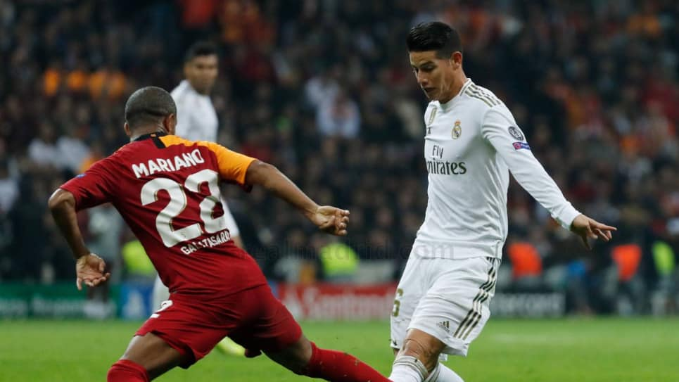 James calificación prensa española Galatasaray vs Real Madrid: Champions League