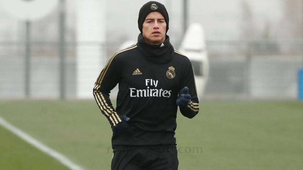 James entrenamiento Real Madrid: regreso al campo James Rodríguez
