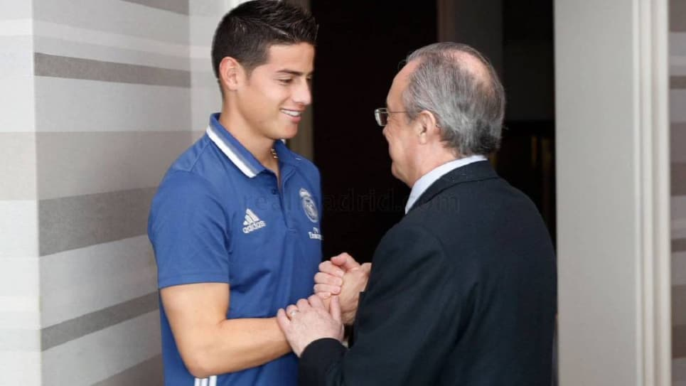 Florentino Pérez elogia a James Rodríguez: James Real Madrid
