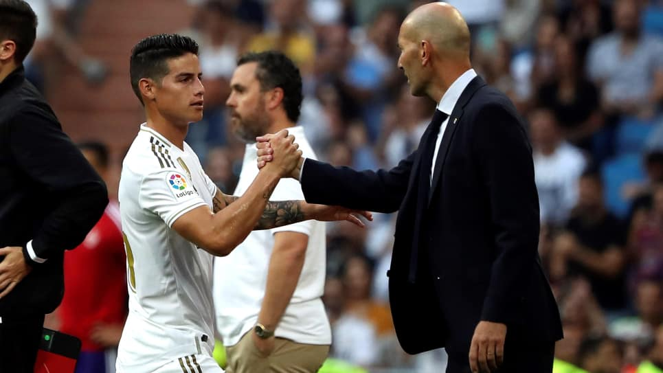 James, Real Madrid-Valladolid: declaraciones Zinedine Zidane