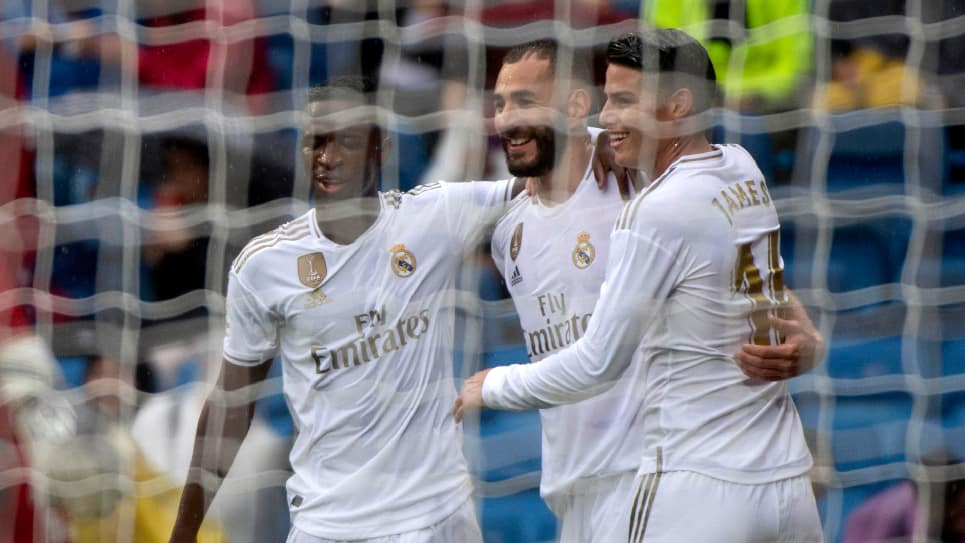 James Real Madrid: aficionados reacciones Real Madrid-Levante