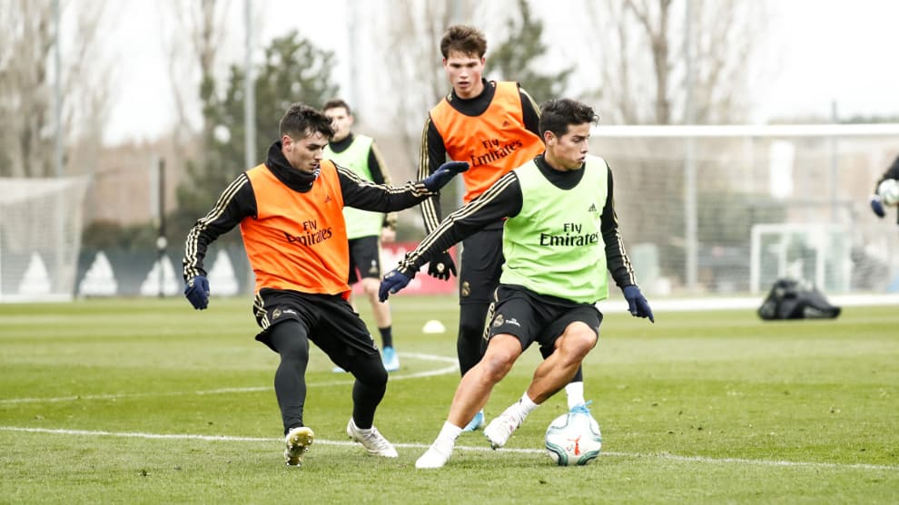James Rodríguez entrenamiento Real Madrid, último partido 2019 ante Athletic Bilbao