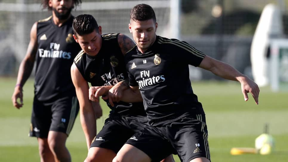James entrenamiento Real Madrid: James Rodríguez práctica Real Madrid