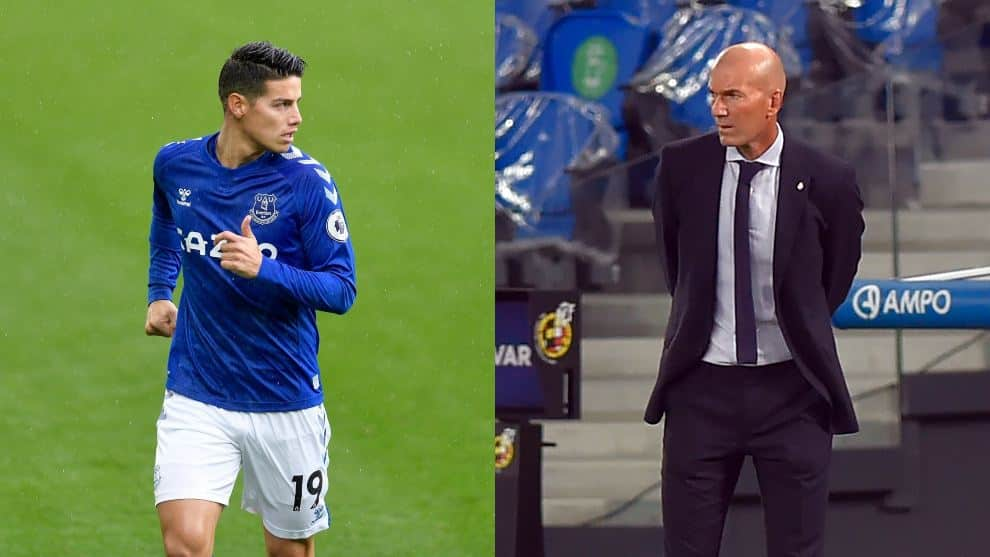 Real Madrid molesto con Zidane por 'caso James'