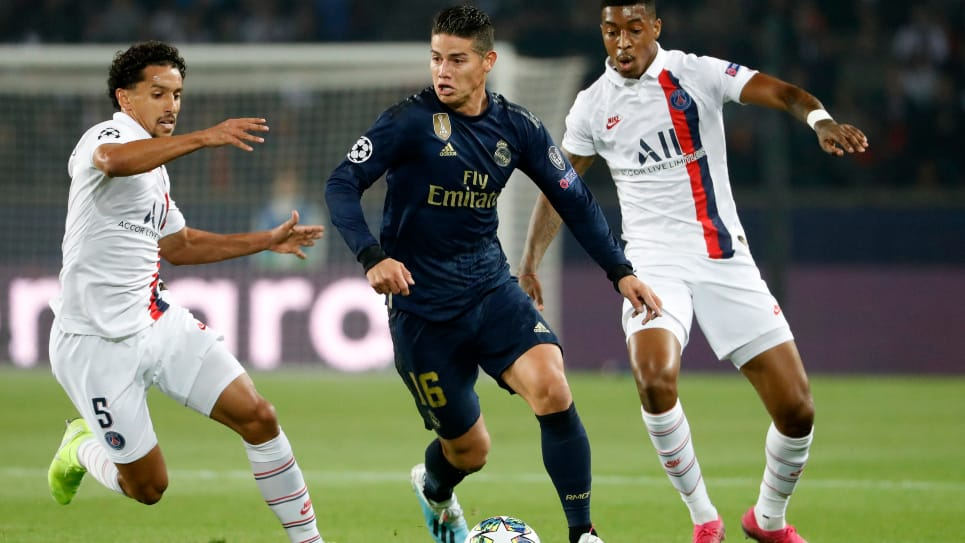 James Rodríguez, PSG 3 - 0 Real Madrid: fecha 1 Champions League