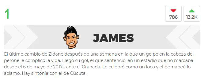 James Rodríguez, Real Madrid-Granada