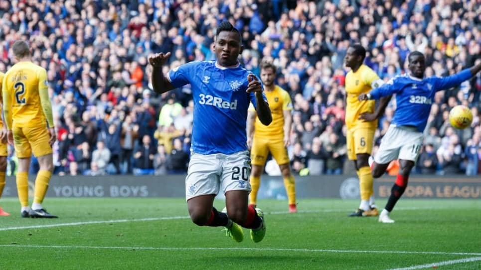 Gol Alfredo Morelos, Rangers vs Livingston: 3 - 1