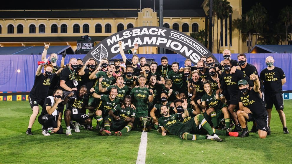 campeones con Portland Timbers de la 'MLS is back'.