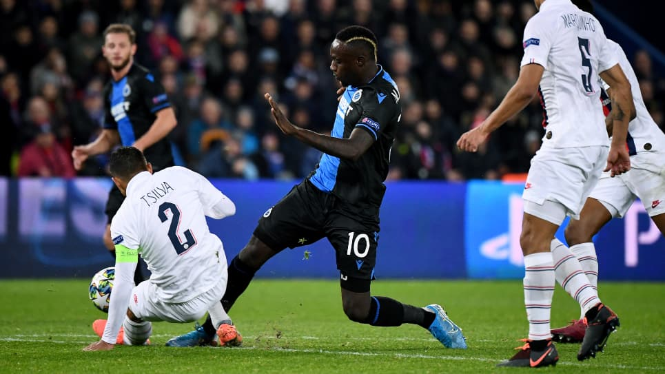 Mbaye Diagne, penal PSG-Brujas: Champions League