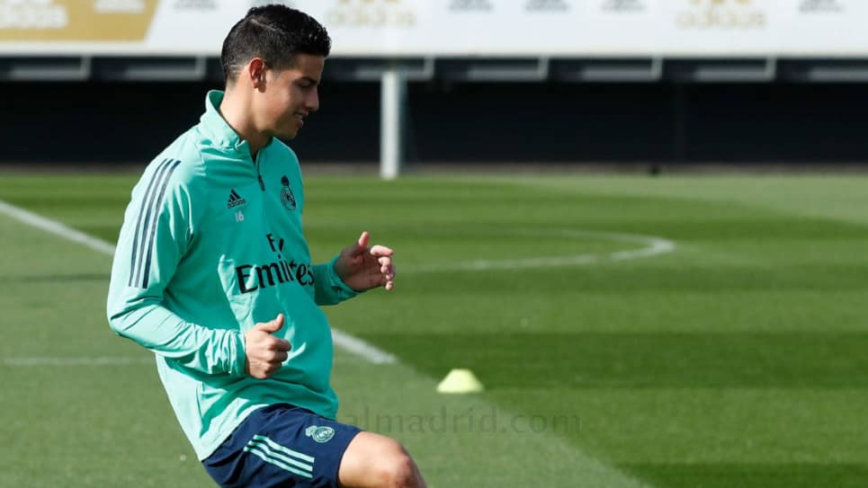 James Rodríguez entreno diferenciado Real Madrid vs Galatasaray: champions league