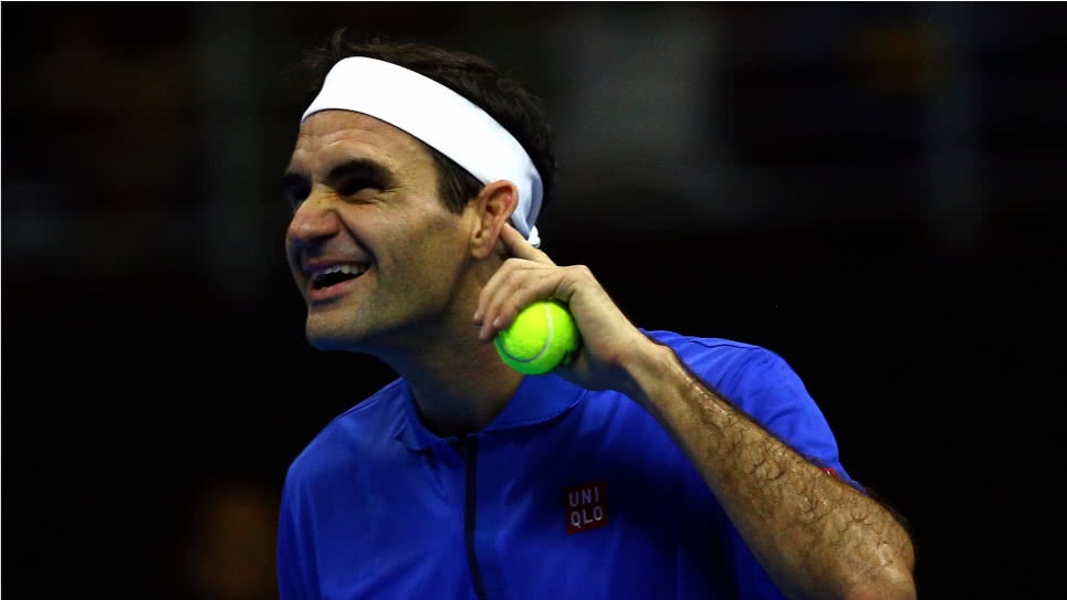 Roger Federer pose foto hincha Buenos Aires