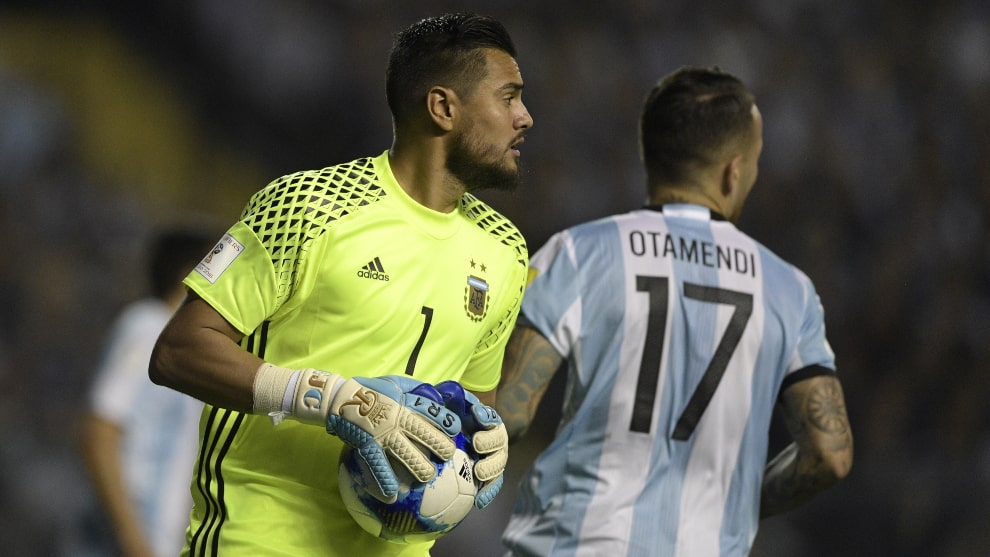 Sergio Romero accidente Lamborghini. AFP