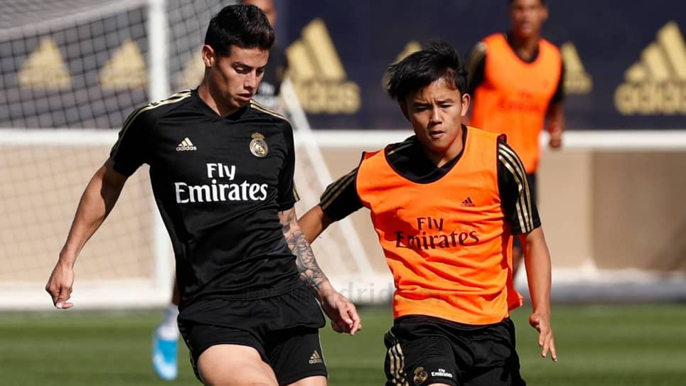 James entrenamiento con Real Madrid: goles y asistencias