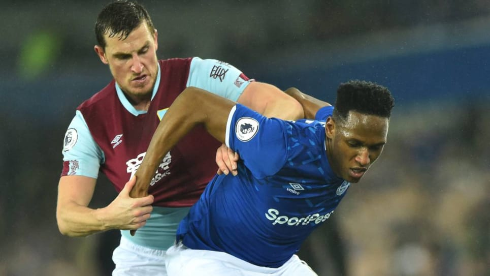 Yerry Mina, protagonista Everton vs Burnley: debut Ancelotti Premier League