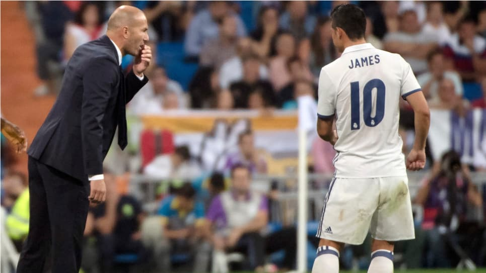 James COPE: Zidane cuenta con James en el Real Madrid